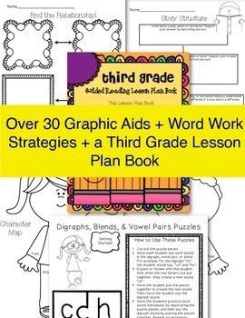 Third Grade SUPER Bundle! ~ Lesson Plans, Phonics Work, Graphic Aids and More!