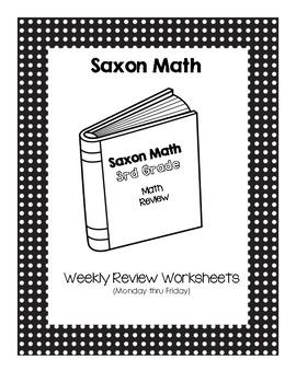 Third Grade Saxon Math Weekly Review Worksheets