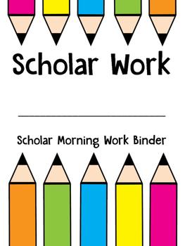 Third Grade Scholar Morning Work