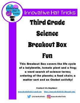 Third Grade Science Breakout Box
