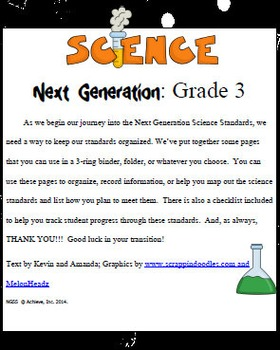 Third Grade Science Next Generation Organizer