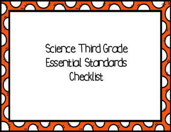 Third Grade Science Essential Standards