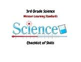 Science: 3rd Grade Missouri Learning Standards Checklist o