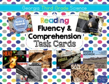 Third Grade Science Task Cards for Reading Fluency & Compr