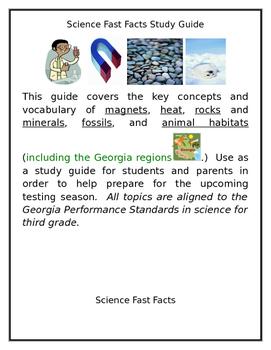 Third Grade Georgia Milestones Science Study Guide
