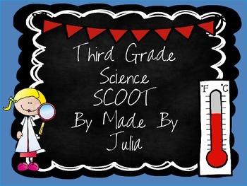 Third Grade Science SCOOT- Great for Georgia Milestone!