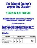 Third Grade Science SOL Checklist
