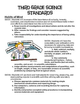 Third Grade Science Standards