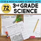 Third Grade Science Stations BUNDLE - ALL Next Generation