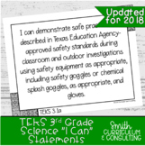 "Third Grade Science TEKS ""I Can"" Statements"