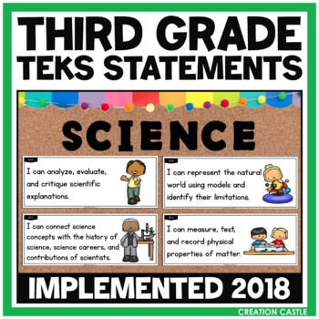 Third Grade Science TEKS - Can and Will Standards Statements