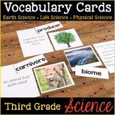 Third Grade Science Vocabulary Cards