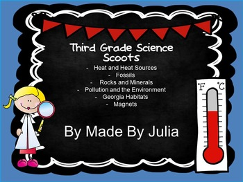 Third Grade Science and Social Studies Scoot Bundle- Great for Georgia Milestone