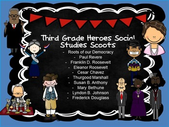 Third Grade Science and Social Studies Scoot Bundle- Great