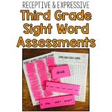 Third Grade Sight Word Assessment: Receptive & Expressive