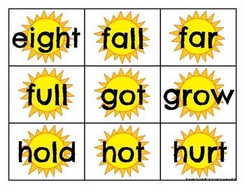 Third Grade Sight Word Cards Summer