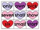 Third Grade Sight Word Cards Valentine's Day