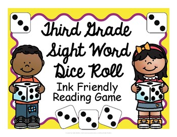 Third Grade Sight Word Dice Roll - Ink Friendly Reading Game