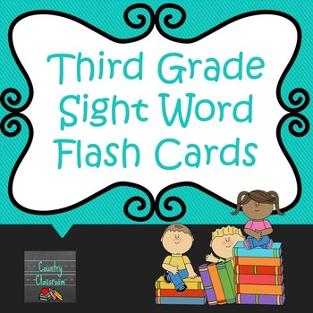 Third Grade Sight Word Flashcard Freebie