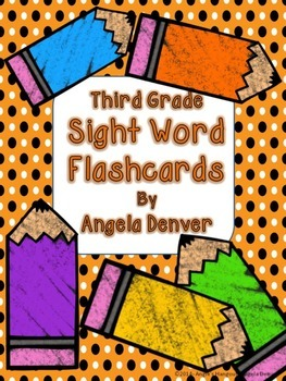 Third Grade Sight Word Flashcards