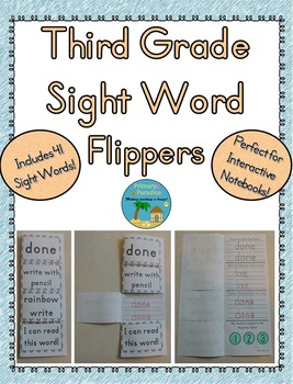 Sight Word Flippers for Third Grade: 41 Words
