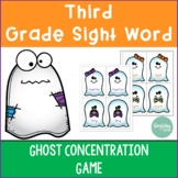Third Grade Sight Word Ghost Concentration Game