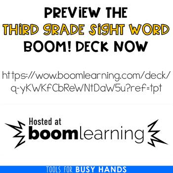 Third Grade Sight Word Interactive Digital Task Cards (Boom! Deck)