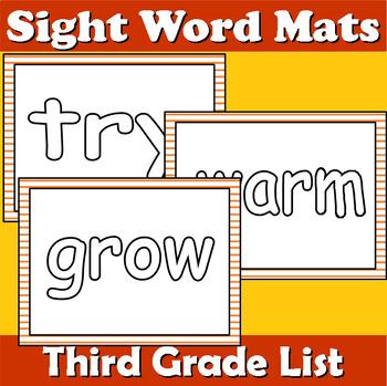Third Grade Sight Word Mats