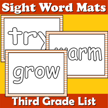 Third Grade Sight Word Mats