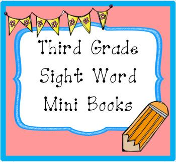 Third Grade Sight Word Mini Books