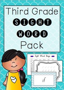 """Third Grade"" Sight Word Pack"