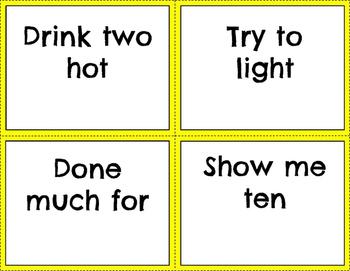 Third Grade Sight Word Phrases
