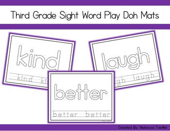Sight Word Play Doh Mats: Third Grade