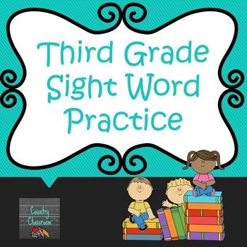 Third Grade Sight Word PowerPoint: Set 1