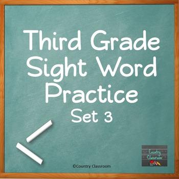 Third Grade Sight Word PowerPoint: Set 3