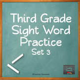 Third Grade Sight Word PowerPoint: Set 3
