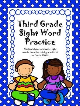 Third Grade Sight Word Practice