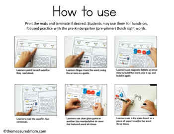 Third Grade Sight Word Practice Mats