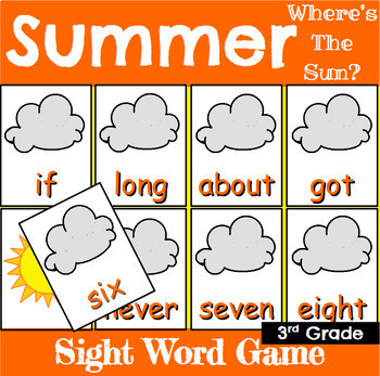 Third Grade Sight Word Recognition Games Bundle for All Seasons