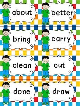 Third Grade Sight Words Cards - Spring Themed
