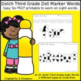 Third Grade Sight Words Dot Marker Words