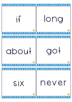 Third Grade Sight Words : Flash Cards / Memory Game