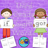 Dolch Third Grade Sight Words Handwriting