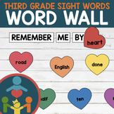 Third Grade Sight Words - Heart Word Wall