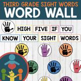 Third Grade Sight Words - High-Five Word Wall