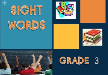 Third Grade Sight Words PowerPoint