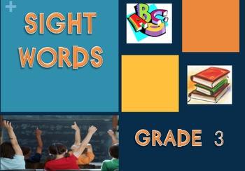 Third Grade Sight Words PowerPoint