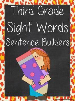 Third Grade Sight Words Sentence Builders