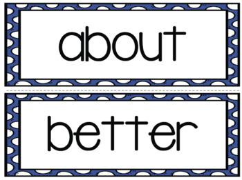 Third Grade Sight Words Word Wall(s)