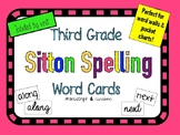 Third Grade Sitton Word Cards